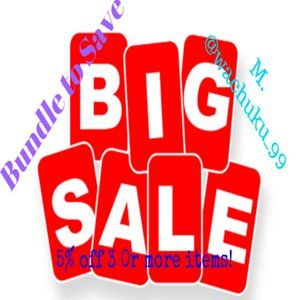 5% OFF OF 3 OR MORE ITEMS!